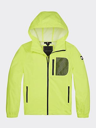 타미 힐피거 키즈 자켓 Tommy Hilfiger TH Kids Hooded Neon Jacket,SAFETY YELLOW