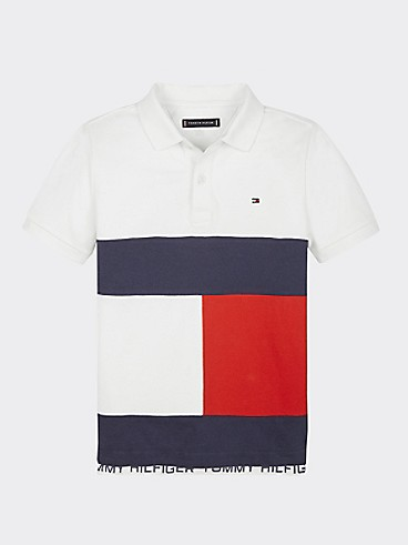 타미 힐피거 Tommy Hilfiger TH Kids Flag Polo