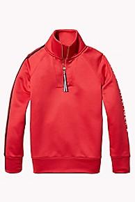 타미 힐피거 걸즈 후드티 Tommy Hilfiger TH Kids Sport Mock Neck Top,HAUTE RED