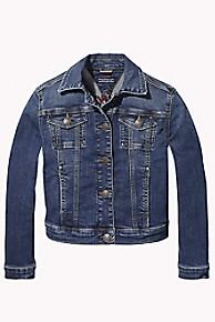 타미 힐피거 걸즈 오버사이즈 트러커 자켓 Tommy Hilfiger TH Kids Oversize Trucker Jacket,FOREST BLUE