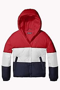 타미 힐피거 걸즈 컬러블록 후드 자켓 Tommy Hilfiger TH Kids Colorblock Hooded Jacket