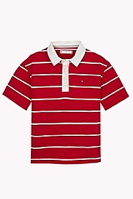 타미 힐피거 Tommy Hilfiger TH Kids Stripe Rugby,TRUE RED