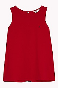 타미 힐피거 Tommy Hilfiger TH Kids Sleeveless Top,TRUE RED