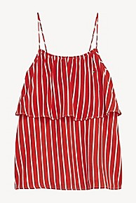타미 힐피거 Tommy Hilfiger TH Kids Sleeveless Stripe Top