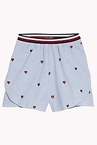타미 힐피거 Tommy Hilfiger TH Kids Hearts Short,SHIRT BLUE/MULTI