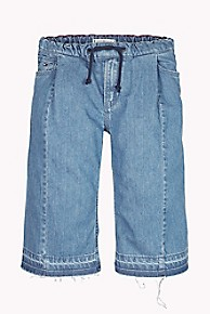 타미 힐피거 Tommy Hilfiger TH Kids Denim Culotte,SKY AUTHENTIC BLUE RIGID