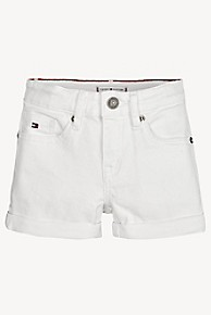 타미 힐피거 Tommy Hilfiger TH Kids Cuffed Denim Short