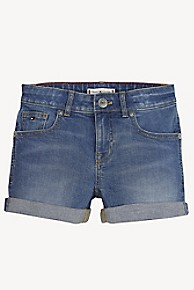 타미 힐피거 Tommy Hilfiger TH Kids Denim Short,NEW YORK MID