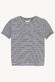 타미 힐피거 Tommy Hilfiger TH Kids Stripe Top,BLACK IRIS