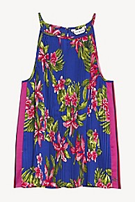 타미 힐피거 Tommy Hilfiger TH Kids Tropics Sleeveless Top,SURF THE WEB/ HAWAII PRINT