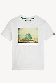 타미 힐피거 Tommy Hilfiger TH Kids Beach T-Shirt,MULTI/ BRIGHT WHITE