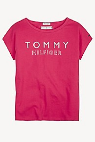 타미 힐피거 Tommy Hilfiger TH Kids Shimmer Icon T-Shirt