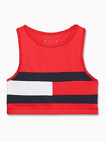 타미 힐피거 Tommy Hilfiger TH Kids Sport Flag Top,HAUTE RED