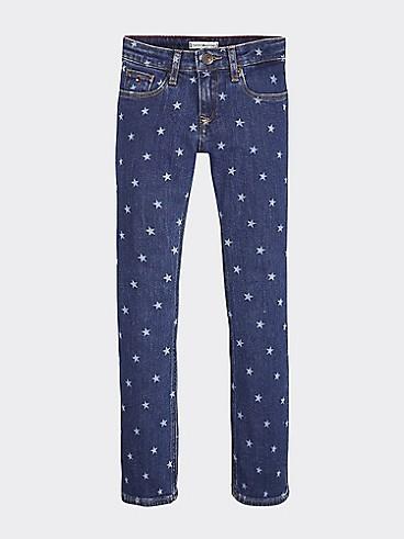 타미 힐피거 Tommy Hilfiger TH Kids Skinny Fit Stars Jean,STAR BLUE STRETCH
