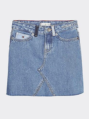 타미 힐피거 Tommy Hilfiger TH Kids Denim Skirt,UPCYCLE DENIM