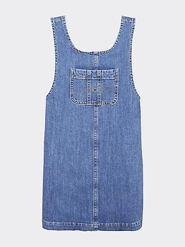 타미 힐피거 Tommy Hilfiger TH Kids Denim Overall Dress,FRESH BLUE