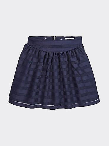 타미 힐피거 Tommy Hilfiger TH Kids Tonal Stripe Skirt,ECLIPSE