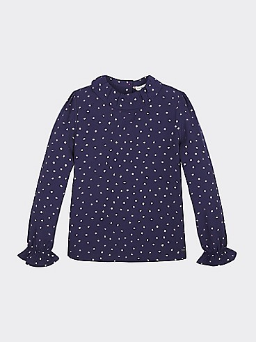 타미 힐피거 Tommy Hilfiger TH Kids Print Top,ECLIPSE