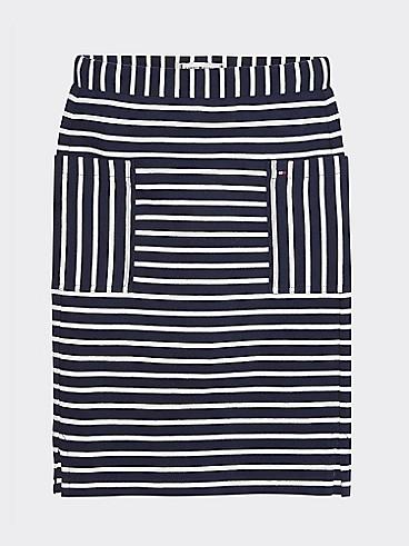 타미 힐피거 Tommy Hilfiger TH Kids Nautical Stripe Skirt,BLUE STRIPE