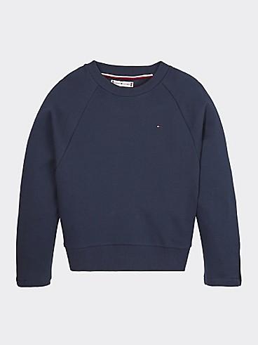 타미 힐피거 Tommy Hilfiger TH Kids Icon Stripe Sweatshirt,TWILIGHT NAVY