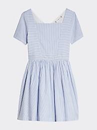 타미 힐피거 Tommy Hilfiger TH Kids Stripe Dress,CALM BLUE