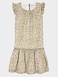 타미 힐피거 Tommy Hilfiger TH Kids Floral Print Sleeveless Dress,WHITE/ FLOWER ALLOVER
