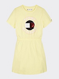 타미 힐피거 Tommy Hilfiger TH Kids Organic Cotton Sequin Dress