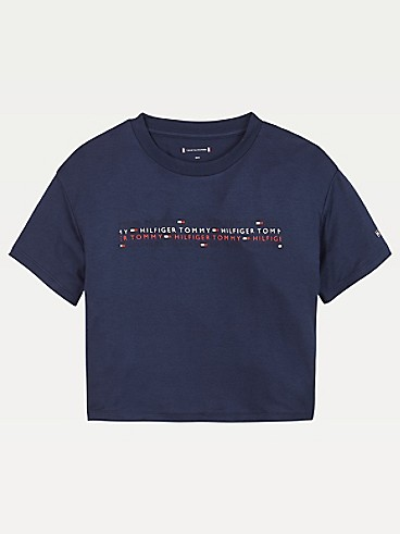 타미 힐피거 Tommy Hilfiger TH Kids Sport Logo T-Shirt