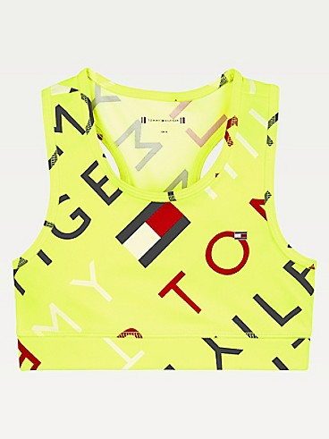 타미 힐피거 Tommy Hilfiger TH Kids Sport Flag Halter,SAFETY YELLOW