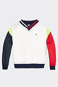 타미 힐피거 Tommy Hilfiger TH Kids Sport Popover Jacket,CLASSIC WHITE