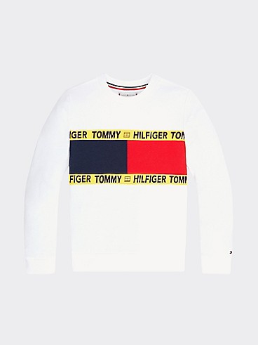 타미 힐피거 Tommy Hilfiger TH Kids Repurposed Flag Sweatshirt