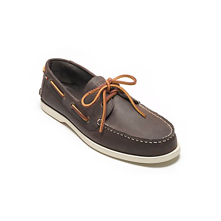 Tommy Hilfiger Deck Shoes - Brown - 9 Tommy Hilfiger Men's Shoe. Just Like The Deck Shoes You Loved Growing Up As A Kid With The Same Amazing Comfort And Siped-Sole Grip-Kicked Up A Notch In Color.· Deck Shoe Silhouette In Suede.· Padded Insole, Microflag On Side, Rubber Sole.· 0.75'' Heel.· Imported.