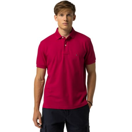 Tommy Hilfiger Slim Fit Premium Pique Polo - Bright Rose - Xs