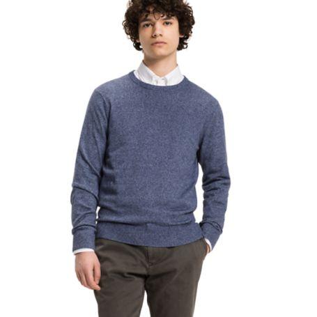 Tommy Hilfiger Mouline Crewneck Sweater - True Navy Heather - Xs