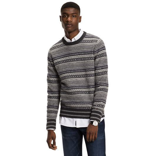 Intarsia Lambswool Sweater   Tommy Hilfiger