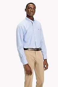 타미 힐피거 Tommy Hilfiger Regular Fit Shirt,SHIRT BLUE / BRIGHT WHITE