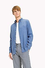 타미 힐피거 Tommy Hilfiger Stretch Linen Slim Fit Shirt