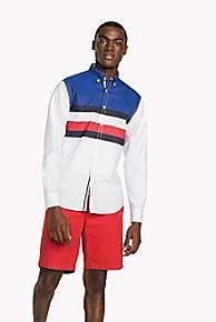 타미 힐피거 Tommy Hilfiger Regular Fit Performance Shirt,BARBADOS CHERRY / SKY CAPTAIN / BW