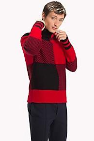타미 힐피거 맨 버팔로 체크 울 스웨터 (찬열 착용) Tommy Hilfiger Buffalo Check Wool Sweater