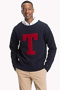 타미 힐피거 울 스웨터 Tommy Hilfiger Wool Monogram Sweater,SKY CAPTAIN