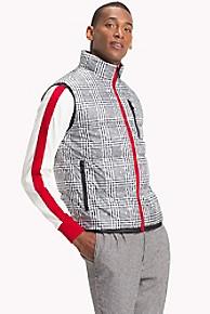 타미 힐피거 맨 체크 푸퍼 베스트 조끼 (찬열 착용) Tommy Hilfiger Glen Plaid Puffer Vest, JET BLACK