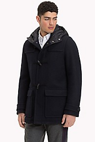 타미 힐피거 후드 더플 코트 Tommy Hilfiger Hooded Duffle Coat,SKY CAPTAIN