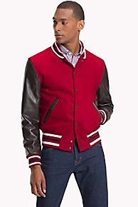 타미 힐피거 모던 캐주얼 자켓 Tommy Hilfiger Modern Varsity Jacket,RHUBARB