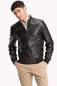 타미 힐피거 리버시블 캐주얼 가죽 자켓 Tommy Hilfiger Reversible Leather Jacket,JET BLACK