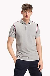 타미 힐피거 Tommy Hilfiger Pique Cotton Logo Tape Polo
