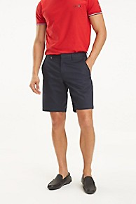 타미 힐피거 Tommy Hilfiger TOMMYXMERCEDES-BENZ Stretch Chino Short,SKY CAPTAIN