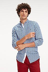 타미 힐피거 Tommy Hilfiger Slim Fit Cotton Poplin Check Shirt