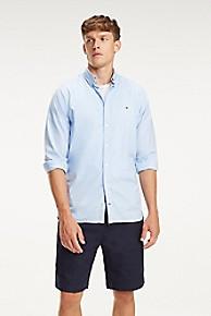 타미 힐피거 Tommy Hilfiger Slim Fit Essential Cotton Twill Shirt,REGATTA