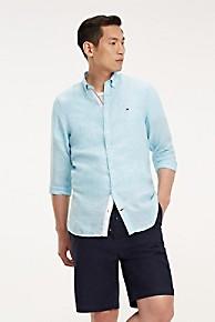 타미 힐피거 Tommy Hilfiger Pure Linen Melange Shirt