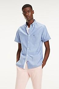 타미 힐피거 Tommy Hilfiger Short-Sleeve Cotton Linen Shirt